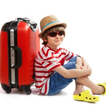 kid with suitcase