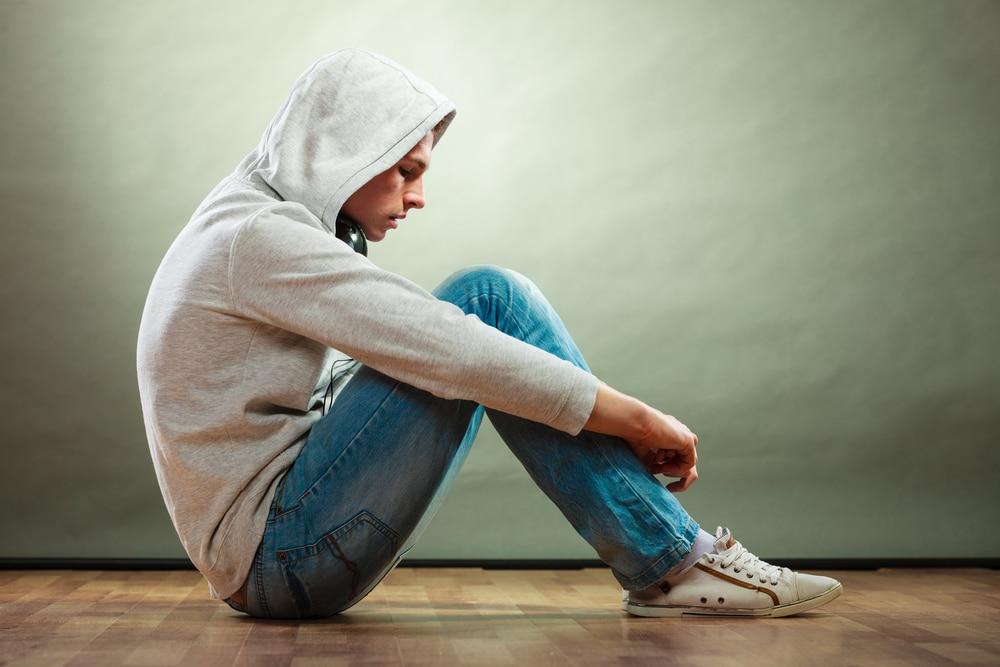 teenager boy alone
