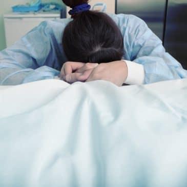 woman at hospital dead concept