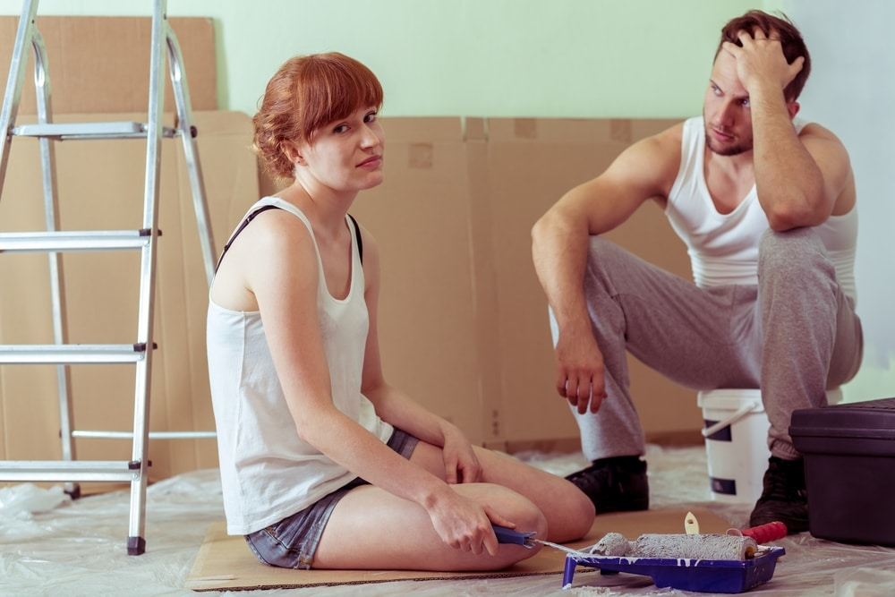 couple renovating