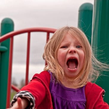 girl yelling at playground