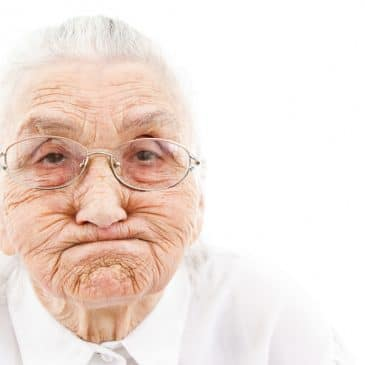 old woman funny face