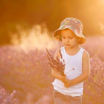 little boy in the sun
