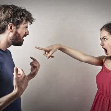 man woman fighting
