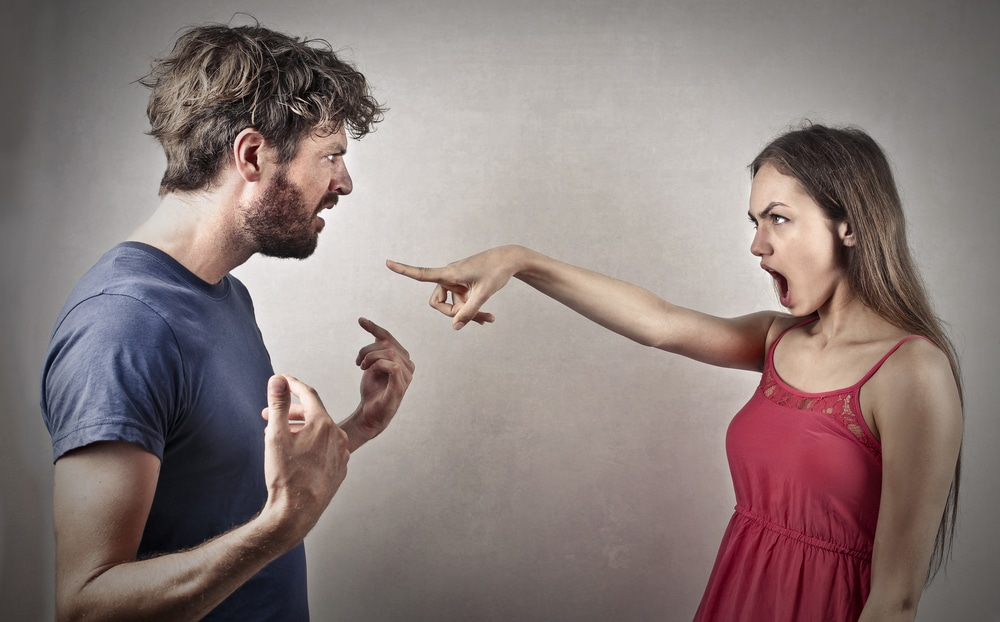 man woman fighting