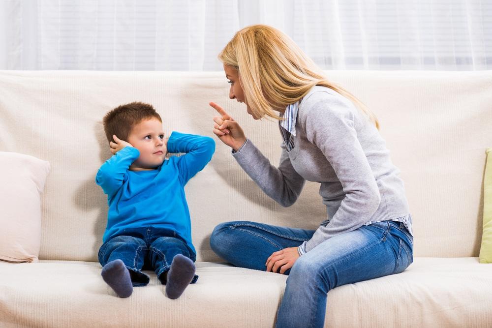 woman angry at son