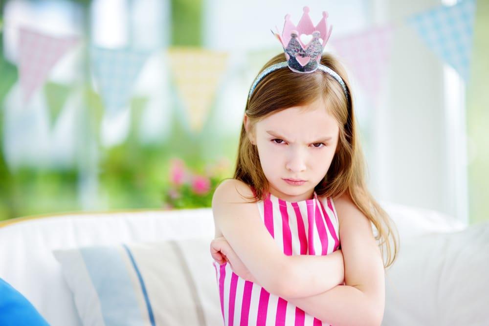 unhappy little girl princess