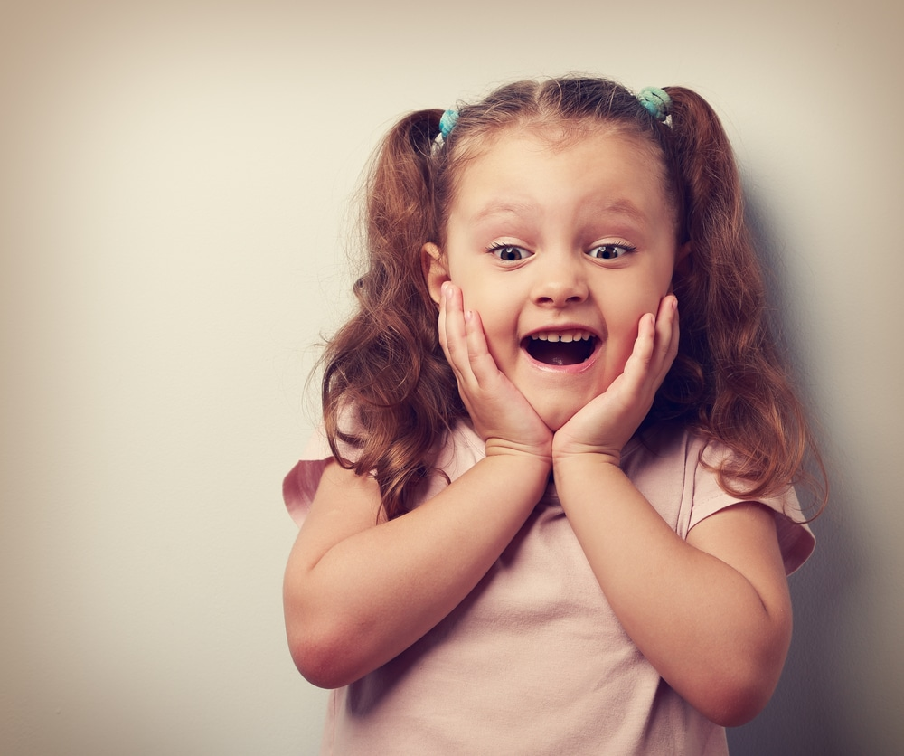 amazed girl