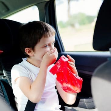 kid vomit in car