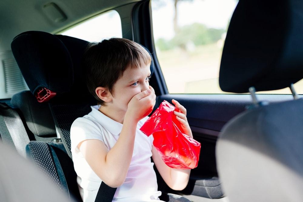 kid vomit in car