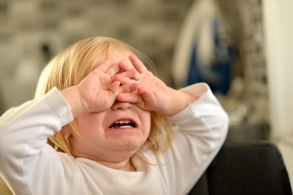 little girl tantrum