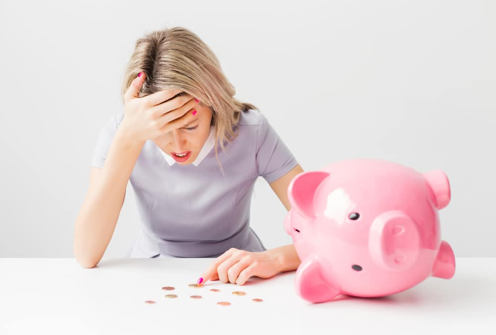 woman financial troubles