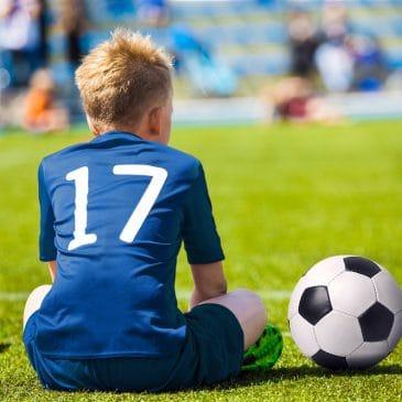 little boy soccer ball