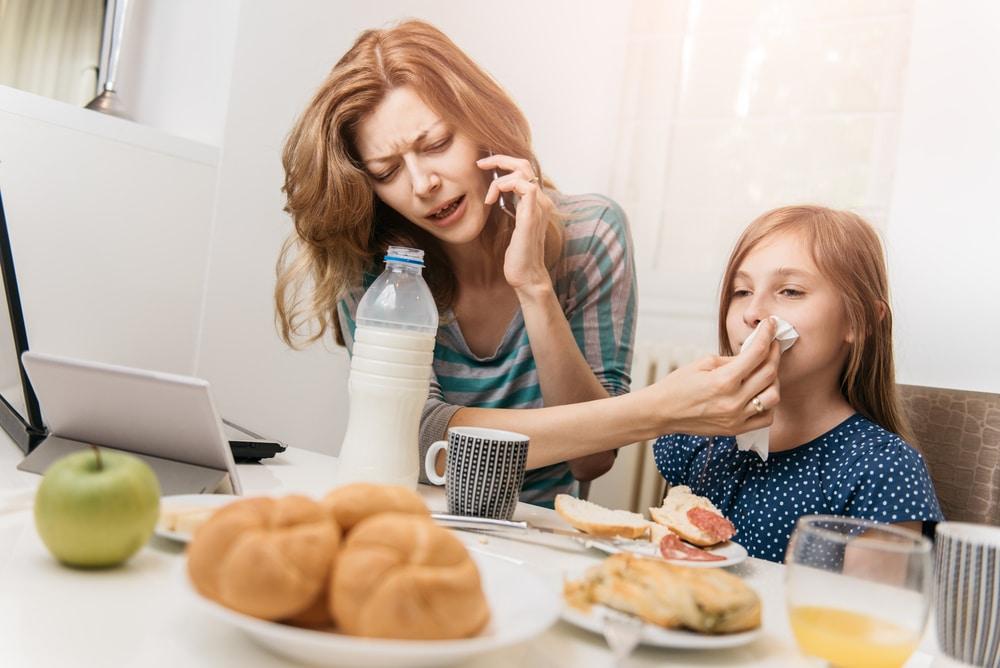 mother multitasking