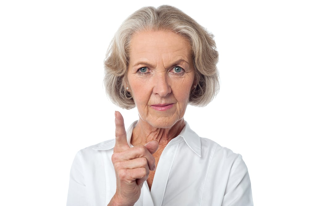old woman angry