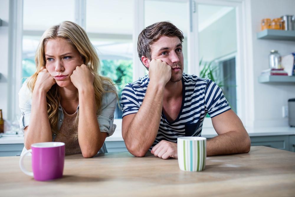 annoyed couple