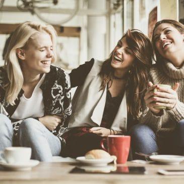 friends taking coffee