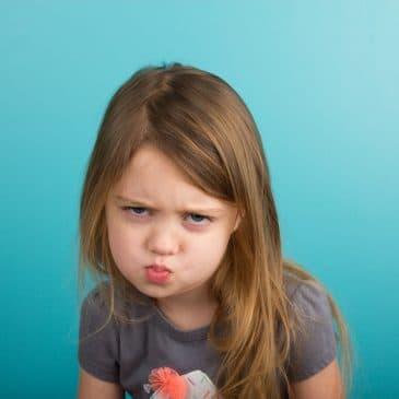 little girl angry