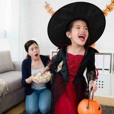 halloween mom angry at girl