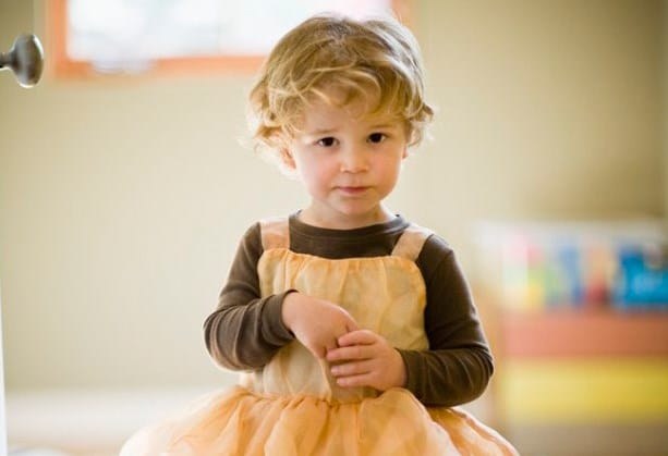 boy dressed as princess