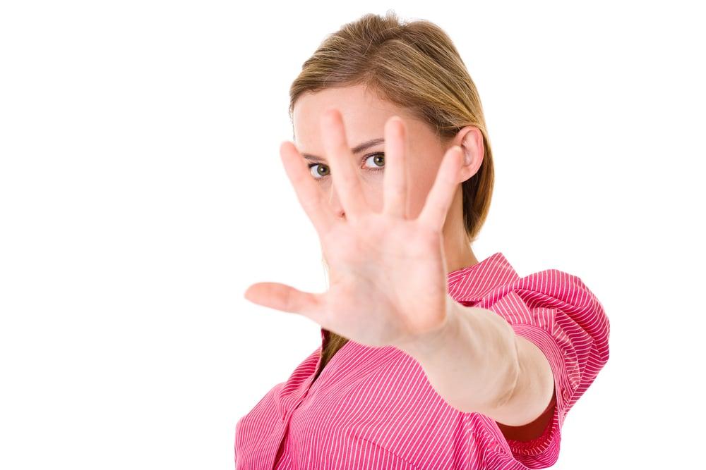 stay away gesture