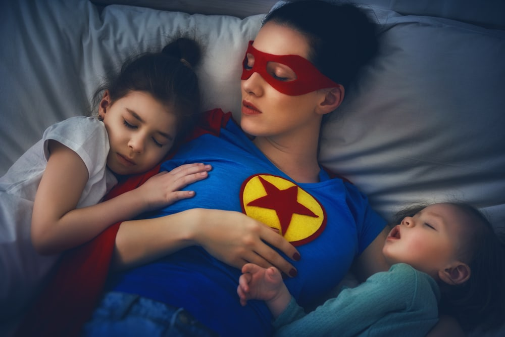 superwoman with kids