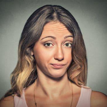 woman skeptical face
