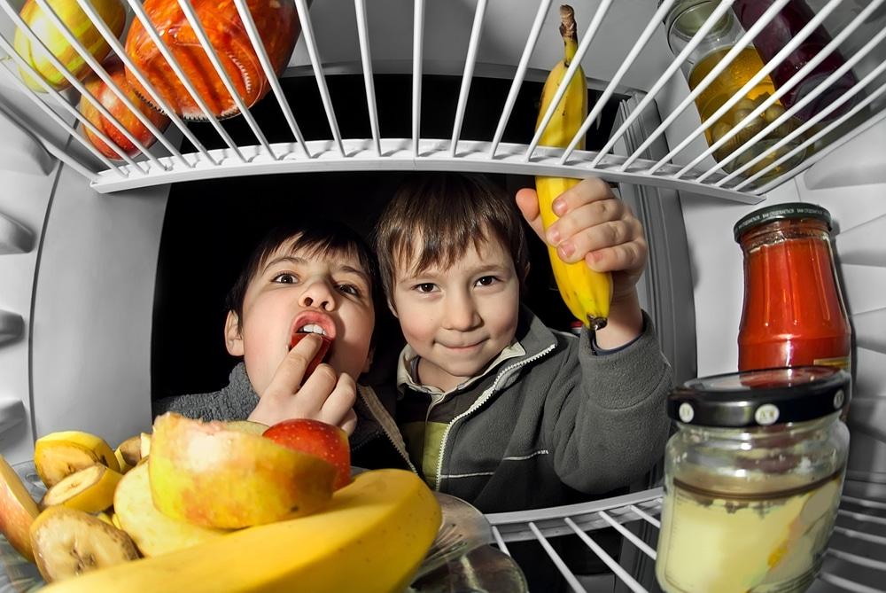 kids in fridge