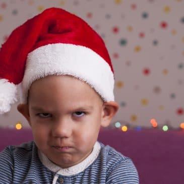 angry boy at xmas