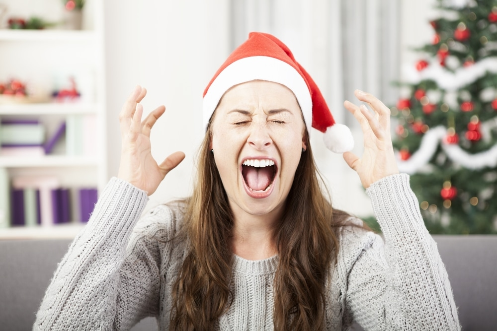 santa girl screaming