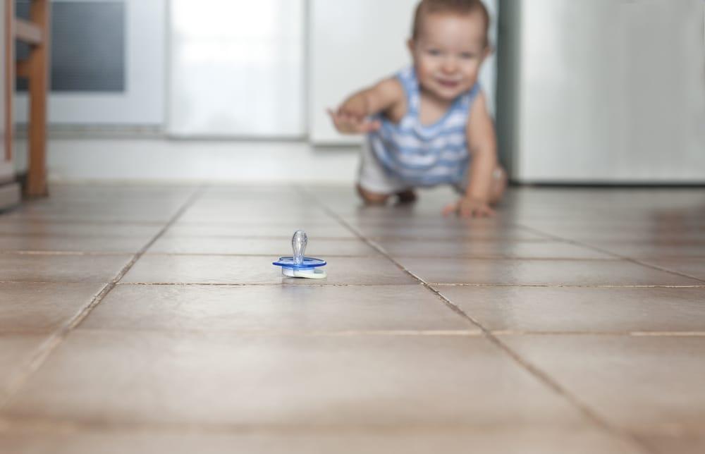 pacifier on the floor