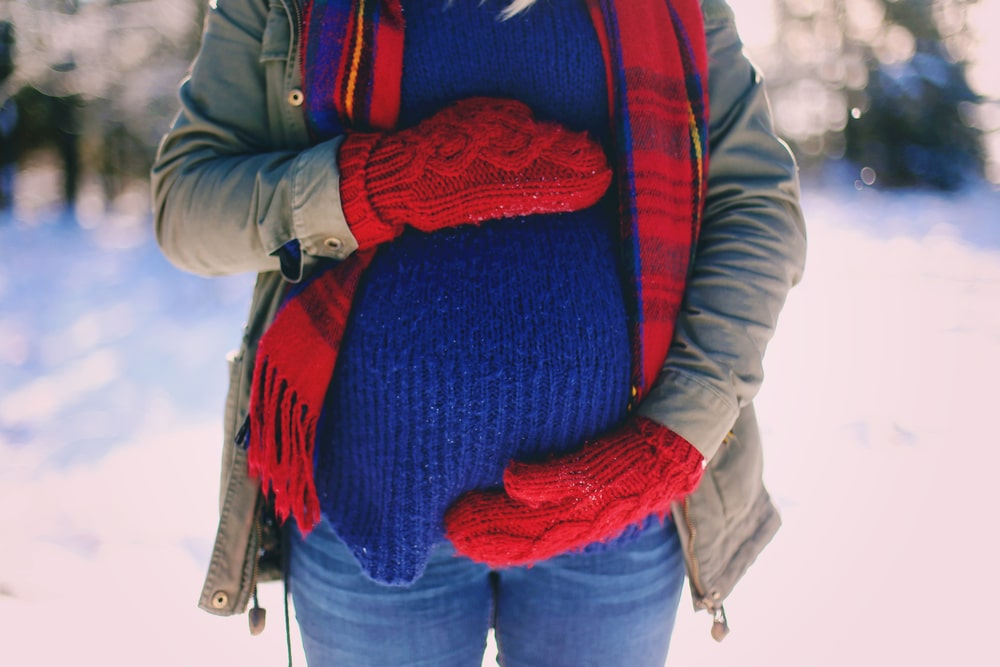 pregnant woman winter
