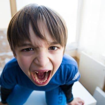 little boy shout