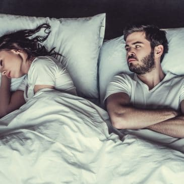 woman sleep unhappy woman