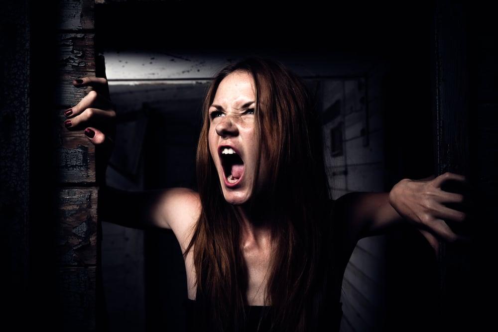 angry woman dark