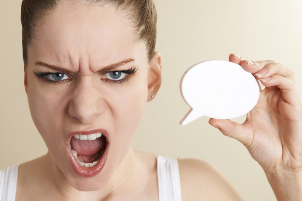 angry woman swear