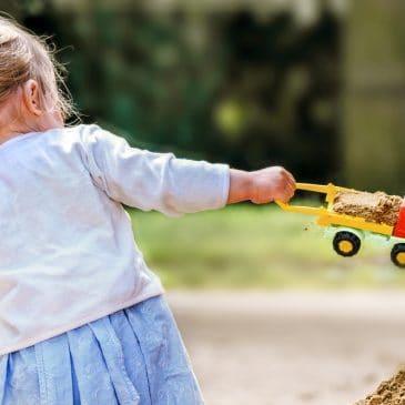 unhappy kid at playground
