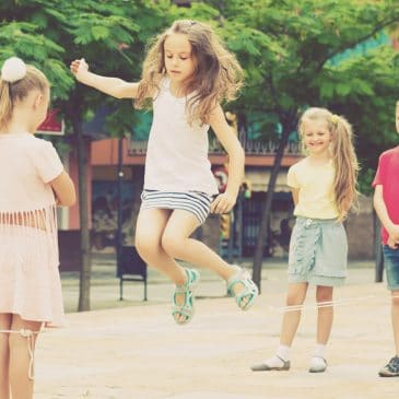 kids playing with jump rope