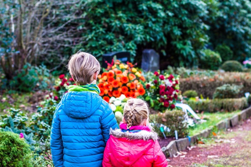 kids in graveyard