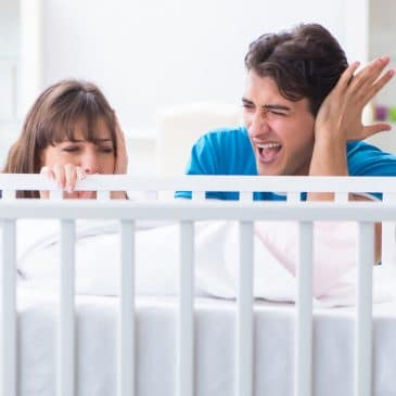 stressed parents with newborn