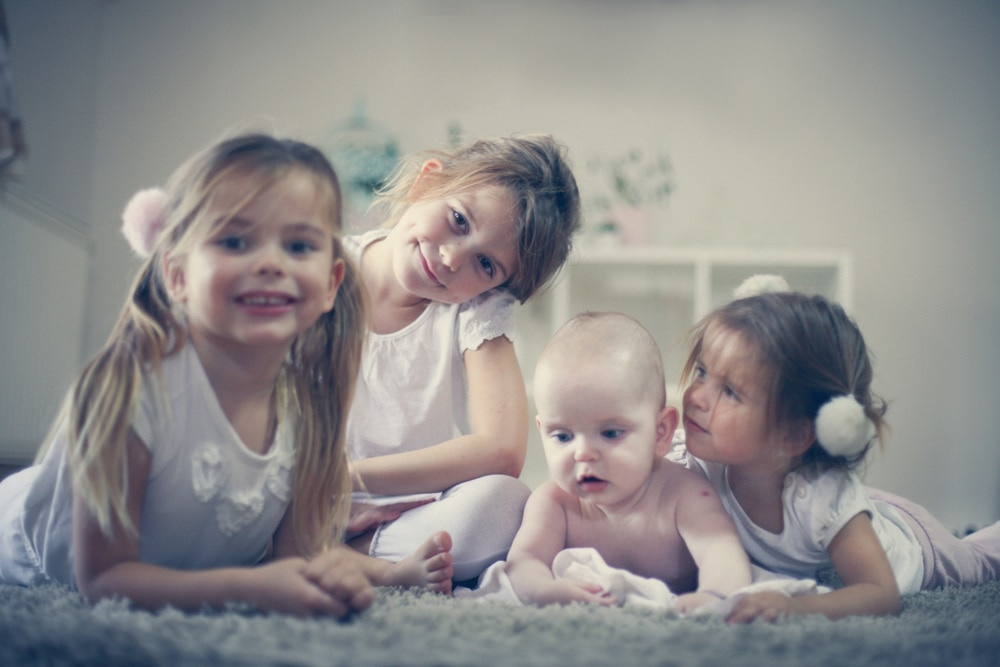four kids in a room