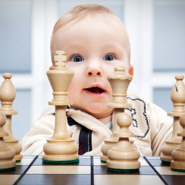 baby play chess
