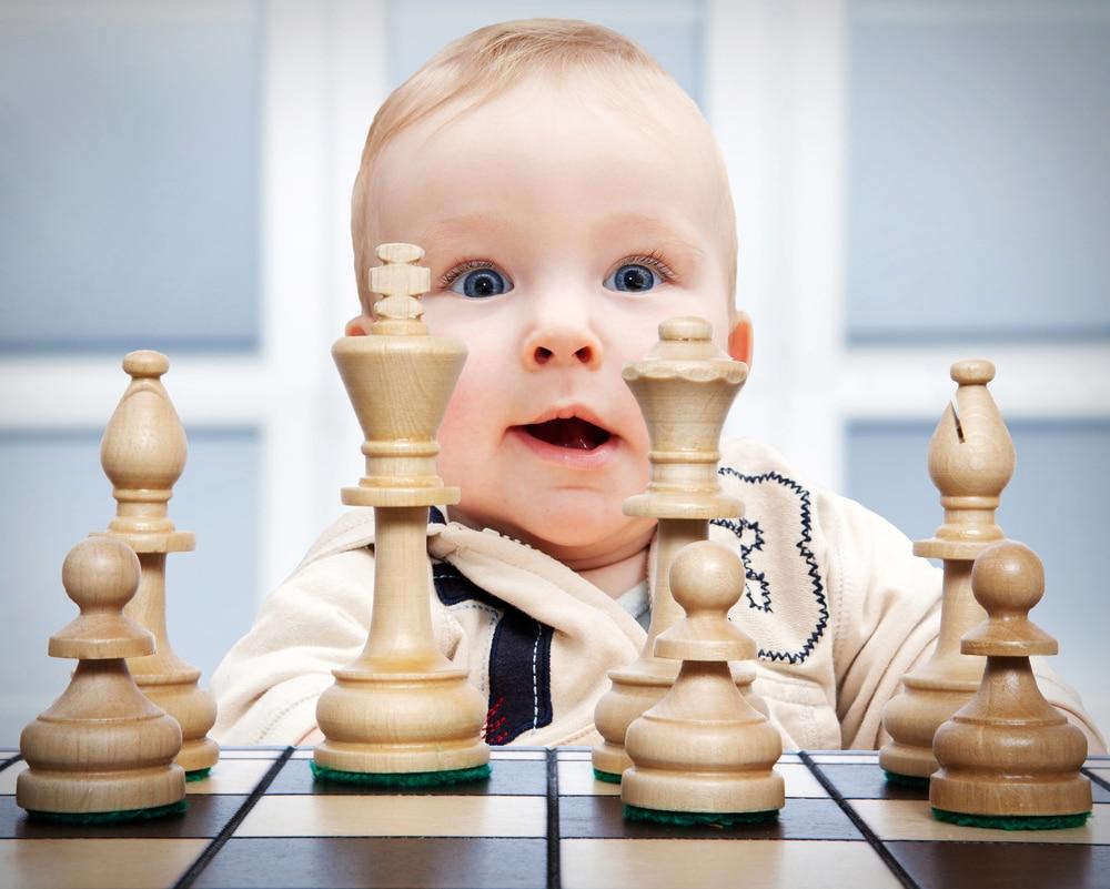 baby play chess