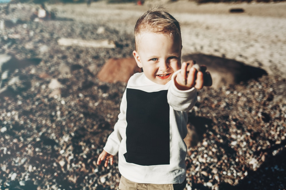 little boy on beach
