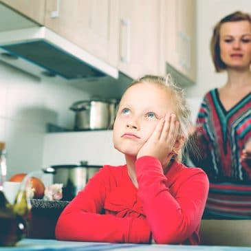 daughter argue with mother