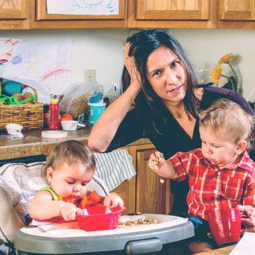 overwhelmed mother