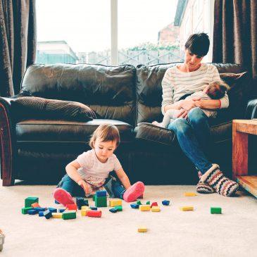 single mom with 2 kids