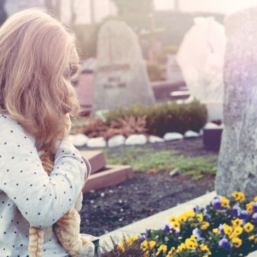 little girl in graveyard