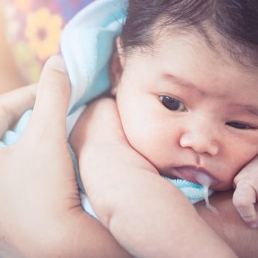 baby puke milk