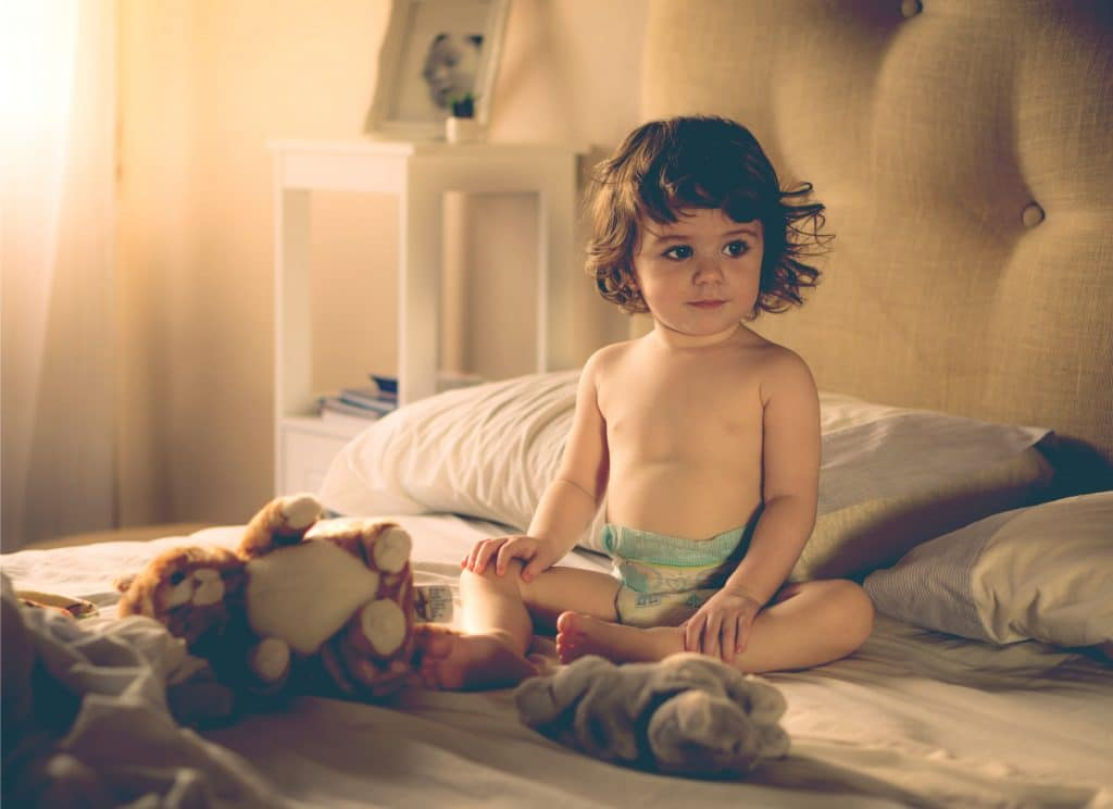 18 months kid in bed